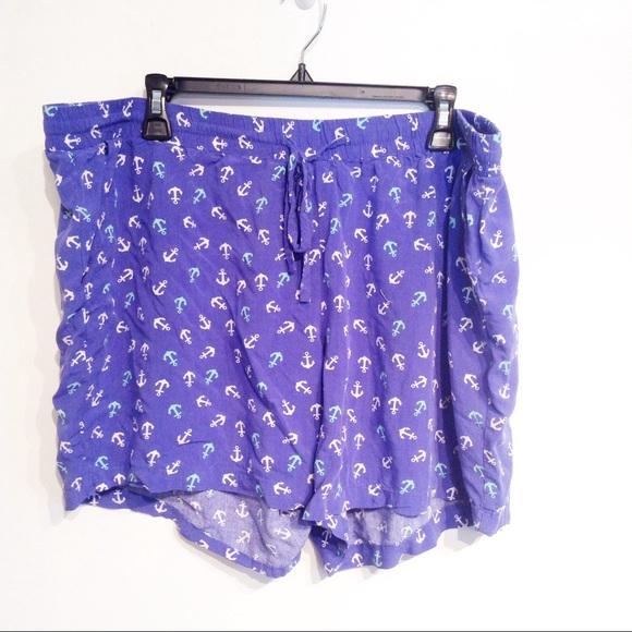 80cfeb1b4e1a0 dept 222 Pants - 🌟5 for  25🌟 PLUS SIZE Anchor Print Flowy Shorts